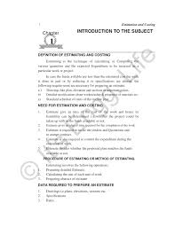How To Prepare An Estimate Unit1 Pages 1 4 Text Version Anyflip