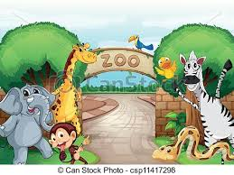 zoo drawing.  Zoo A Zoo And The Animals  Csp11417298 Inside Zoo Drawing