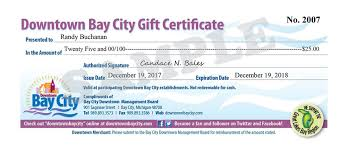 How To Make A Gift Certificate Gift Certificates Downtown Bay City