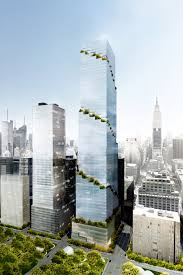 office block design. Called The Spiral, 65-storey Glass Tower Is Slated To Rise At 66 Hudson Boulevard, As Part Of Massive Yards Mixed-use Development That Now Office Block Design L