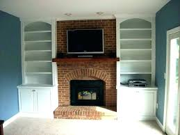 built in shelves around fireplace ins window cabinets bu
