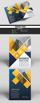 Buy Brochure Templates Brochure Cover Layout With Blue And Yellow Accents 6 Buy