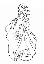 Disney Princess Snow White Coloring Page For Kids Pages Printables