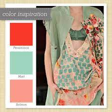 red pink and mint green color palette