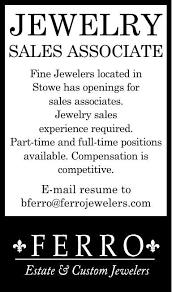 Ferro Sales Associate Jobs Stowetoday Com
