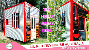 Small Picture Lil Red Tiny House Video Tour with Tiny Houses Australia Tiny