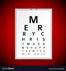 Christmas Eye Test Chart As Xmas Card