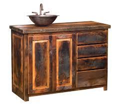 Rustic Bathroom Storage Bathroom Rustic Barnwood Bathroom Vanity Shelf With Door And