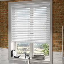 wood venetian blinds. Simple Blinds High Gloss Pure White Faux Wood Blind  50mm Slat And Venetian Blinds