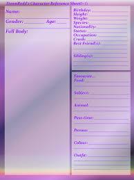 Blank Character Reference Sheet By Dawnredd On Deviantart Art