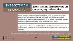 beyond contract cheating towards academic integrity st andrews t  18
