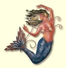 mermaid metal wall art large metal mermaid wall art