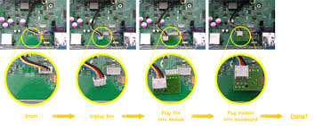 xbox 360 slim fan mod quality professionally made pcb and uses very reliable surface mount technology see below how easy it is to fit no ering or wire cutting