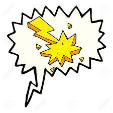 comic book lighting. Freehand Drawn Comic Book Speech Bubble Cartoon Lighting Strike Symbol Stock Vector - 53483865