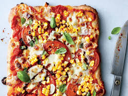 monday tomato basil and corn pizza if you like having a healthy