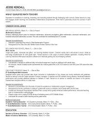 Alternative Resume For Math Teachers Sales Teacher Lewesmr
