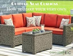 outdoor seat cushions how to make