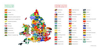 English County Flags Chart The Flags Of The English And Welsh Counties Sorry No