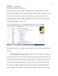 Seo Analysis Sports Authority