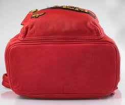 details about nwt mcm men s red leather stark insignia small backpack 2100