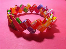 Chocolates Wrappers How To Make A Bracelet Out Of Candy Wrappers 13 Steps