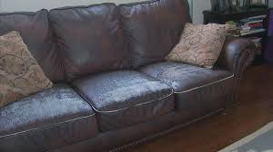 mold on leather sofa responds to ling furniture complaints cleaning mold from leather sofa
