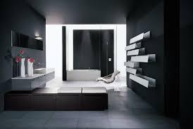 big bathroom designs. Very Big Bathroom Inspirations From Boffi : Contemporary Design With Dark Wall Paint White Shelves Designs