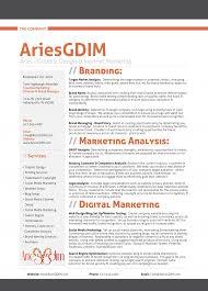 Ariesgdim Resume Intro Multimedia Designer Examples Templates Cv