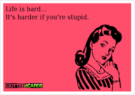 Life Is Hard It's Harder If You're Stupid Funnies Pinterest Delectable Life Is Hard Its Harder If Youre Stupid Poster