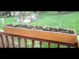 Small Picture Build Deck Railing Planter Boxes YouTube