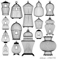 アンティーク鳥カゴのイラスト素材 Pixta