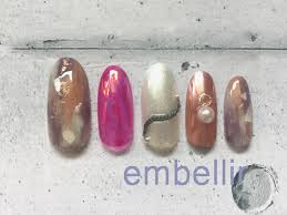 ミラーピンクオーロラフィルムのニュアンスネイルチップ Embellir