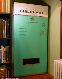 Vintage Vending Machines For Sale Interesting Vintage Vending Machine That Dishes Out¿ Books Daily Mail Online