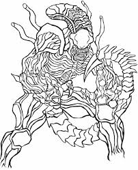 Small Picture alien vs predatorvm Colouring Pages Coloring pages for Adults