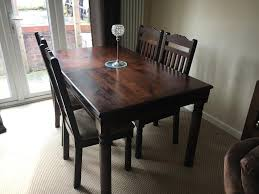 beautiful dark wood dining table extendable in colchester es gumtree
