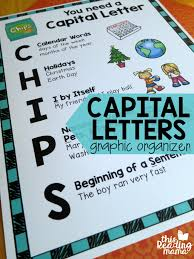 capital letters graphic organizer for