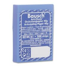 "Bausch Articulating Paper - 40µ Micro-Thin (.0016"") Pre-cut Strips ..."