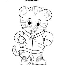 Daniel Tiger Coloring Pages Printable Animals Cartoon Disney Stock