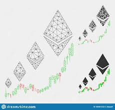Ethereum Classic Growth Chart Ethereum Growth Chart Vector Mesh 2d Model And Triangle