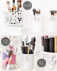 makeup storage ideas ikea skurar plant pot middot makeup brush