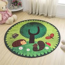 lovely cartoon hedgehog soft round decorative carpet floor door yoga pad baby child kid s play crawling mat hallway area rug shaw commercial carpet mohawk