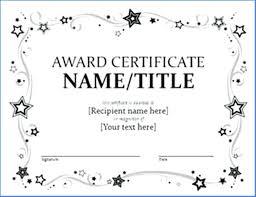 Attendance Award Template Free Printable Certificate Templates Editable Template Award