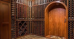 mahogany wine cellar