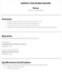Amazing Sample Resume For Daycare Teacher For Daycare Teacher Resume