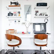 small home office. Contemporary Home Office With White Walls, Console Table And Smart Modern  Chairs Small