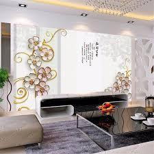 Europese Stijl Luxe Behang 3d Gouden Sieraden Bloemen Silk Muur