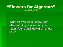 flowers for algernon rdquo pp ppt 1 ldquoflowers