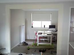 home office space by removing a wall