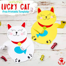 Free Craft Printables Templates Free Printable Chinese Lucky Cat Template Kids Craft Room