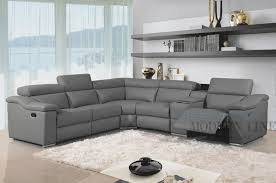 sofa set gray leather modern design l shape there is a foot rest and